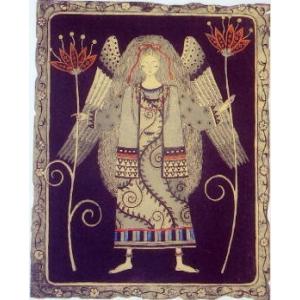 ひがしより?!!!朝日 みお(あさひ みお)の銅版画作品 題名:願花をもつ東方の天使�(ねがいばなをもつとうほうのてんしスリー) 専用額付き(簡易化粧箱入り)