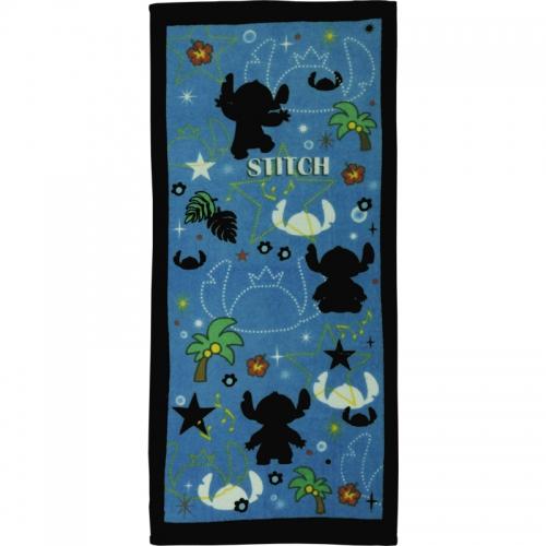 【春限定】 大人気ディズニーシリーズから「スティッチ(Stitch)」のタオルが登場!!!キャラクタータオル スティッチ 「シルエットスティッチ」 フェイスタオル (2枚組/34×75cm)×アソート5種類