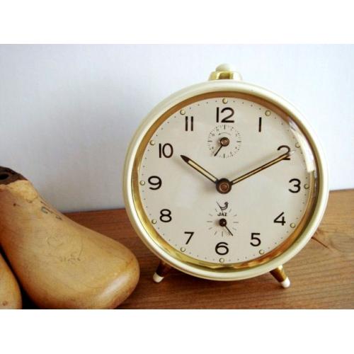 JAZ 目覚まし時計 アイボリー