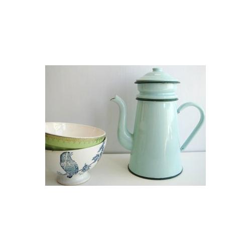 ホーロー コーヒーポット 緑