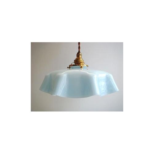 ランプシェード フリル ブルー
