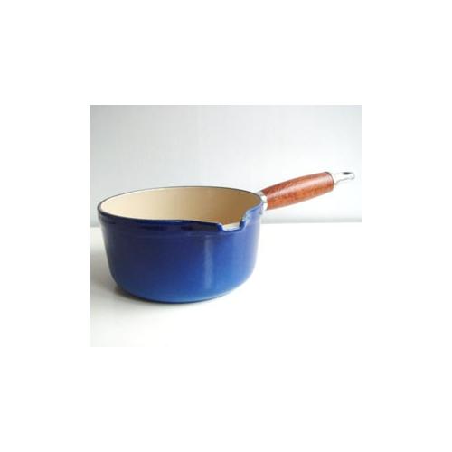 クーザンス ソースパン ウッドハンドル #14 青