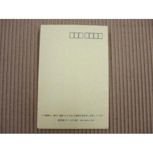 【送料無料】紙すき はがき 5枚セット レモンイエロー