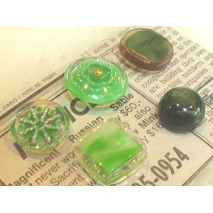 ボタンセット「Green Green Green」