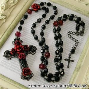 薔薇の十字架ロザリオロングネッ...