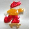 LEA STEINスケートボード少年のブローチ