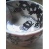 さて!!!?木版画作家 秋山 巌(あきやま いわお)作品 題名:酒がどっさりある 椿の花 ぐい呑み(簡易紙箱いり)