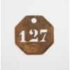 真鍮 ナンバープレート 八角 127