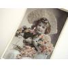 ポストカード 花束と少女