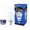 やさしい明るさが魅力★ホワイトシリカ電球60W方25個/セット m1p-lw100v54w-25 画像