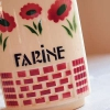 フランス アンティーク 陶器製キャニスター