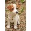 【送料無料】粘土フィギア 子犬シリーズNo.2 「ジャックラッセルテリア 子犬」 ハンドメイド