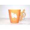 春色!限定販売【パピヨン】音符マグカップ/オレンジ