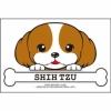 犬フェイス ステッカー(シーズー)