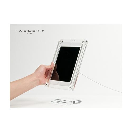 展示用『iPad・タブレットスタンド』 -TABLETY- ケースタイプ・iPad mini用 (美しい展示と盗難防止・防犯・セキュリティ対策)