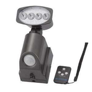乾電池式 超輝度LED2.0Wリモコン式センサーライト