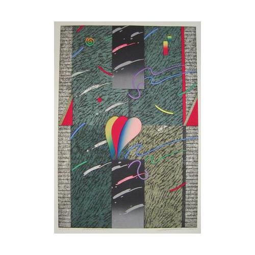 紙や古典に精通し、その多彩な表現は世界中の愛好者を魅了する!!黒崎 彰(くろさき あきら:Akira Kurosaki)の木版画作品 題:夜想曲 ノクターン(ショパン) 専用額付き(簡易化粧箱入り)
