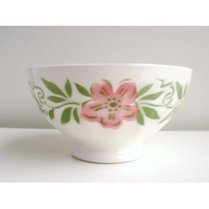 カフェオレボウル ピンクの花