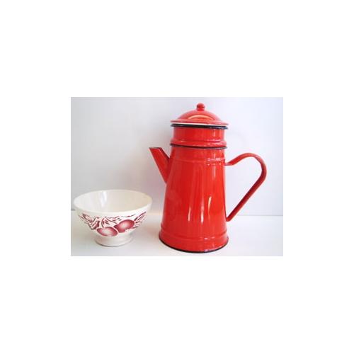 ホーローコーヒーポット 赤