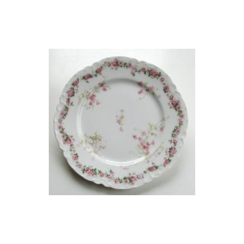 アビランド プレート 薔薇&ピンクの花