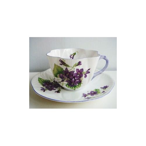 シェリー カップ&ソーサー Violets D