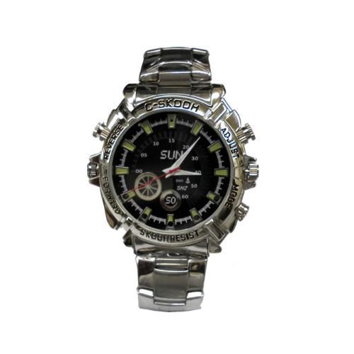 腕時計型ビデオカメラ  Full HD 暗視機能付き 8GBメモリー内蔵 小型カメラ カモフラージュカメラ スパイカメラ TEM-523 画像