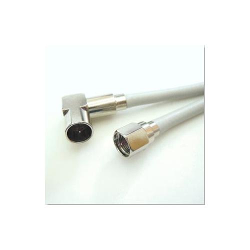 ★両端コネクター付TVケーブル・L型×F型接栓1m