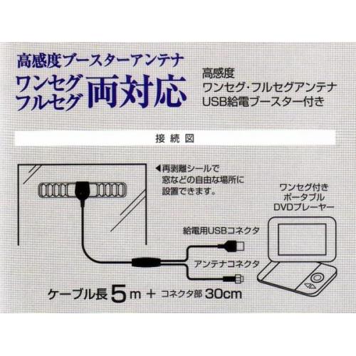 即決★ワンセグ・フルセグ対応・高感度ブースターアンテナ・新品 phsa-of25 画像