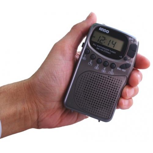 多機能★自動選局・デジタル時計機能ラジオ ANDO/R10-096DZ 画像