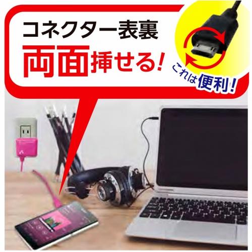 スマートフォン用★両挿しコネクター対応AC充電器 AKJ-72R BK 画像
