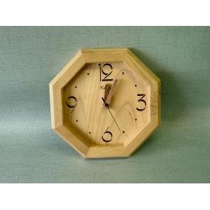 桧 掛時計 八角