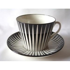 UPSALA EKEBY GEFLE Zebra C&S(ウプサラ・エクビー ゼブラ コーヒーカップ&ソーサー)★スウェーデン