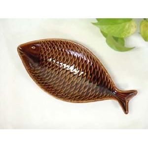 スティグ・リンドベリ お魚プレート ブラウン【S】★fish plate★GUSTAVSBERG