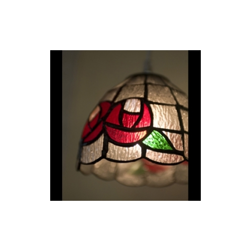 ティファニータイプ ランプ シェードRed Rose