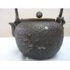 鉄瓶 「亀文堂」銀象嵌「家・・在東」