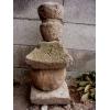 五輪塔 梵字入り 4段重ね 石仏