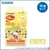 【送料無料】 CASIO カシオ ネームランド サンリオキャラクターテープ ハローキティ(りんご) XR-18SS1 ×10個セット