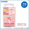 【送料無料】 CASIO カシオ ネームランド サンリオキャラクターテープ マイメロディ XR-18SA4 ×10個セット