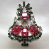 クリスマスツリーブローチ(ヴィンテージ)