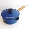 クーザンス ソースパン ウッドハンドル 16cm 青