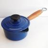 クーザンス ソースパン ウッドハンドル 12cm 青