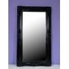 【大型ブラックミラー】 店舗用インテリア 立て掛け用鏡 こだわりのブラックフレーム クラシックデモダン
