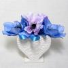 【ワンポイントアートフラワー】ブルーアネモネ ハート花器