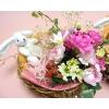 花とうさぎさんのバスケットフラワー*ラブリー&キュート母の日バージョン