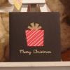ギフトボックスのミニクリスマスカード
