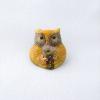 七宝焼ピンブローチ(ピンバッジ,ピンズ) ふくろう 黄1