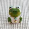 雨の日を楽しく!七宝焼ピンブローチ(ピンバッジ,ピンズ) カエル(正面)