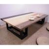 北海道5種類無垢板180ローテーブル